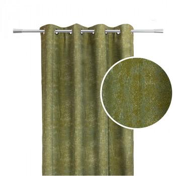 Rideau jacquard vert effet chiné
