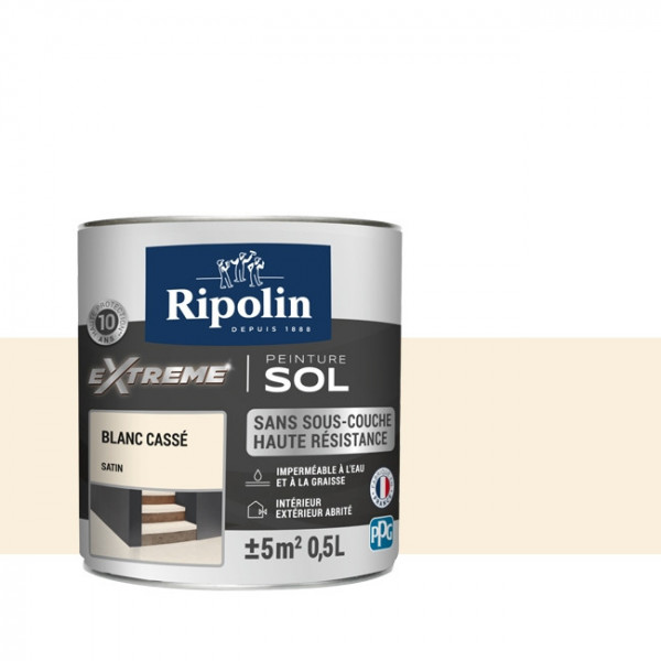Peinture Ripolin extreme sol blanc...