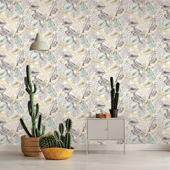 Papier peint intissé lessivable perroquet