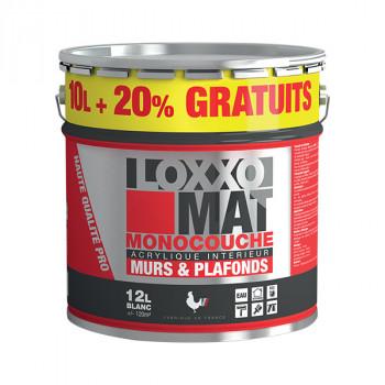 Peinture LOXXO monocouche murs et plafonds blanc mat