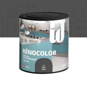 Peinture Id Déco multi-support rénocolor haute résistance zinc brillant 0,5L