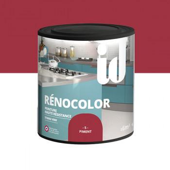 Peinture Id Déco multi-support rénocolor haute résistance piment brillant 0,5L