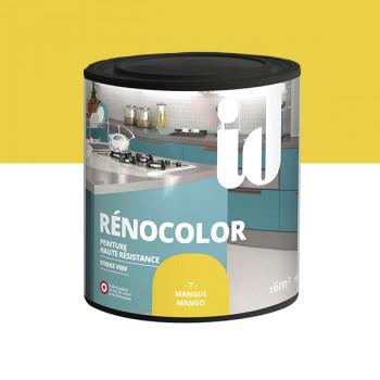 Peinture Id Déco multi-support rénocolor haute résistance mangue brillant 0,5L