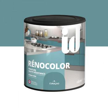 Peinture Id Déco multi-support rénocolor haute résistance curaçao brillant 0,5L