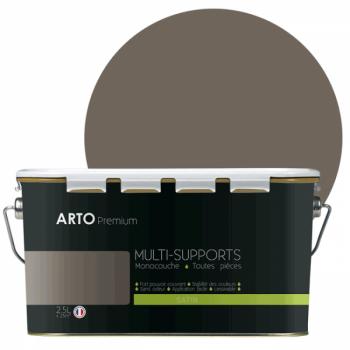 Peinture arto premium multi - supports murs, plafonds, boiseries, plinthes et radiateurs taupe satin 2,5 L