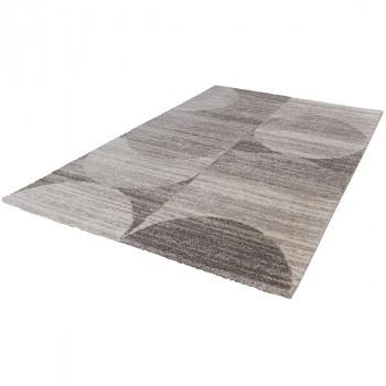 Tapis gris à motifs ronds 120 x 170 cm