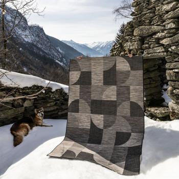 Tapis gris à motifs cercle 160 x 230 cm