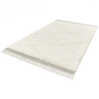 Tapis blanc à motifs géométriques 160 x 230 cm