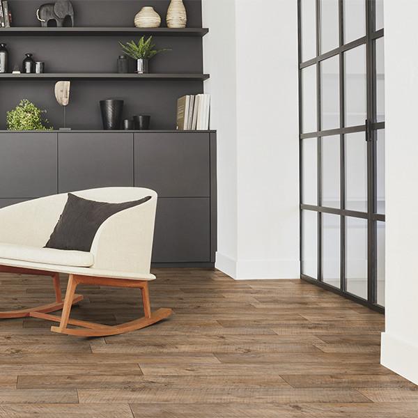 Sol PVC lame bois large rustique