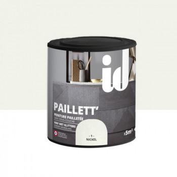 Peinture Id Déco paillett' gris nickel 500 ml