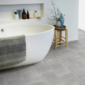 Sol PVC gris imitation carrelage carreaux de ciment 2.4 mm