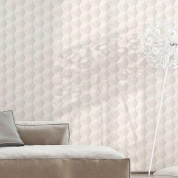 Papier peint intissé lessivable cube 3D gris et taupe