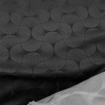 Tissu jacquard eventail gris anthracite 150 cm