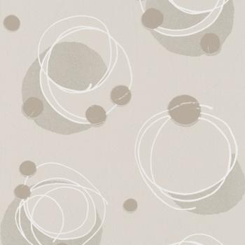 Papier peint intissé spirale beige