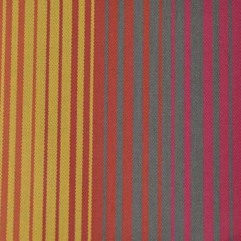 Tissu enduit rayures multicolore jaune 160 cm