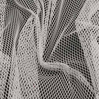Tissu maille filet blanc 160 cm