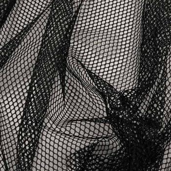 Tissu maille filet noir 160 cm