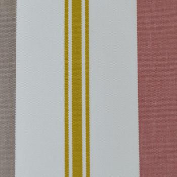 Tissu toile transat rayée jaune rose 160 cm