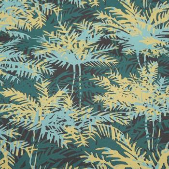 Tissu toile transat végétal vert 160 cm