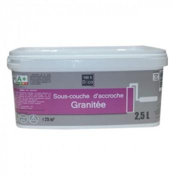 Sous-couche 100 % déco d'accroche granitée 2,5 L