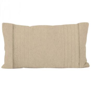 Coussin rectangle uni beige 32x50 cm