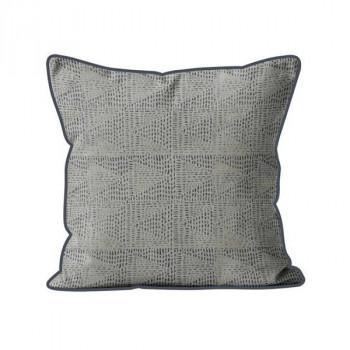 Coussin carré gris géométrique 40x40 cm