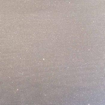 Tissu skaï paillettes argent 140 cm