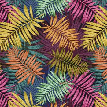 Tissu coton végétal multicolore Oekotex 150 cm