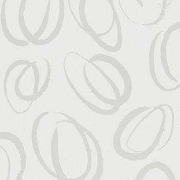 Papier peint intissé blanc boucle beige