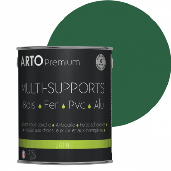 Peinture Arto Premium multi-supports vert provence satin 2,5L