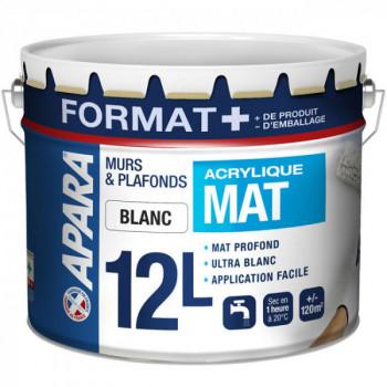 Peinture murs et plafonds mat Format + 12L