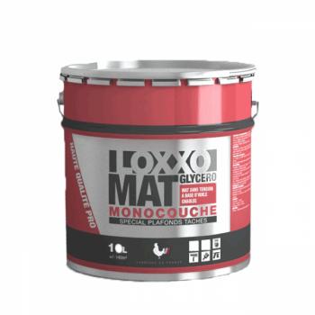 Peinture Loxxo Murs et plafonds tâchés glycéro blanc mat 10 L