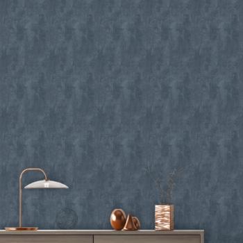 Papier peint Arto Premium intissé effet béton bleu nuit