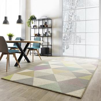 Tapis triangles pastels 120 x 170 cm