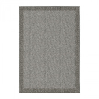 Tapis uni gris 160 x 230 cm