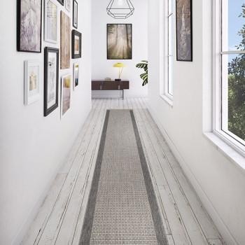 Tapis de couloir gris 67 cm en rouleau