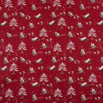 Tissu en coton imprimé de Noël