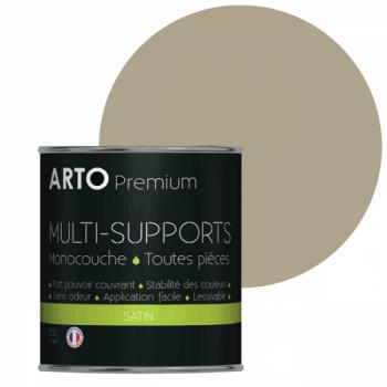 Peinture arto premium multi-supports murs, plafonds, boiseries, plinthes et radiateurs marbre satin 0,5 L