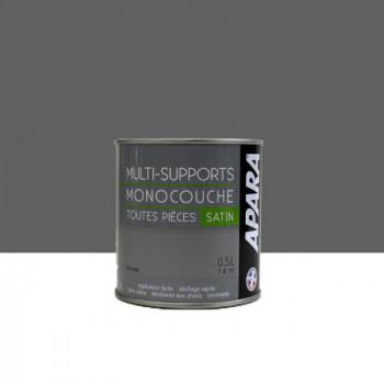 Peinture Apara multi-supports  Murs, plafonds, boiseries, plinthes...  gris feutrine satin 0,5L