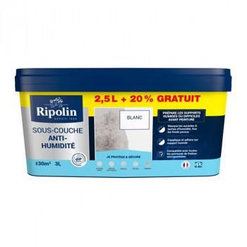 Peinture Ripolin solution anti-humidité blanc 3L