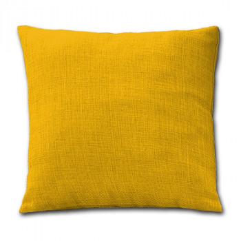 Coussin carré zippé jaune victoria 60x60 cm