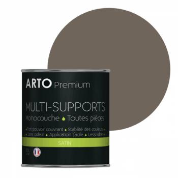 Peinture arto premium multi-supports murs, plafonds, boiseries, plinthes et radiateurs taupe satin 0,5 L