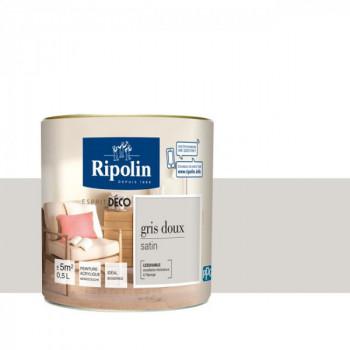 Peinture RIPOLIN Esprit Déco satin gris doux satin 0,5L