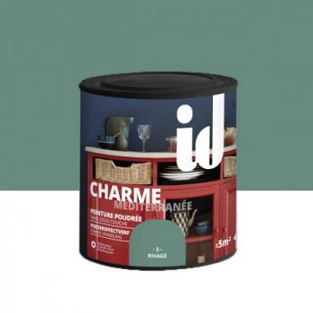 Peinture Id Déco multi-support charme méditerranée poudrée lin rivage mat 0,5 L