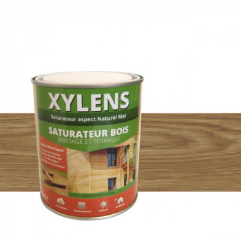 Peinture Xylens saturateur bois gris perle mat 0,75 L