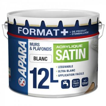 Peinture murs et plafonds satin Format + 12L