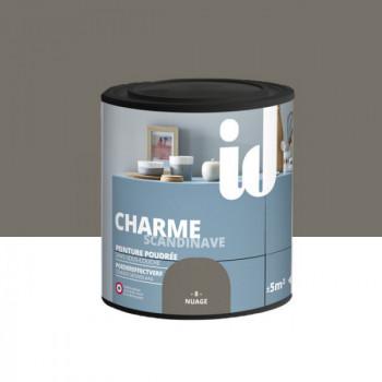 Peinture Id Déco multi-support charme scandinave poudrée nuage mat 0,5 L