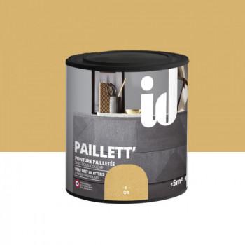 Peinture Id Déco paillett' or 500 ml