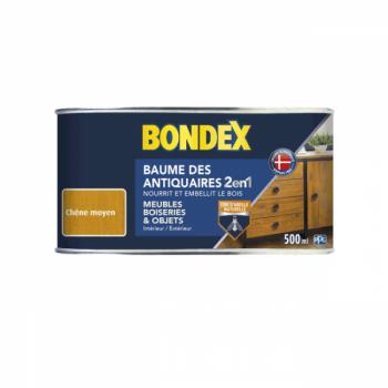 Baume des antiquaires Bondex cire 2 en 1 chêne moyen satin 500 ML