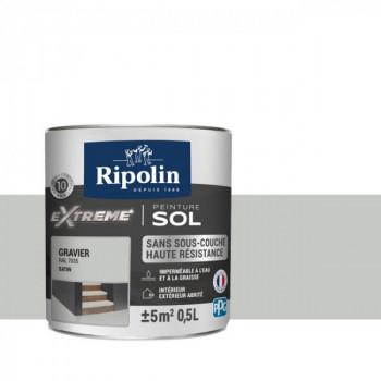 Peinture Ripolin extreme sol gravier satin 0,5 L